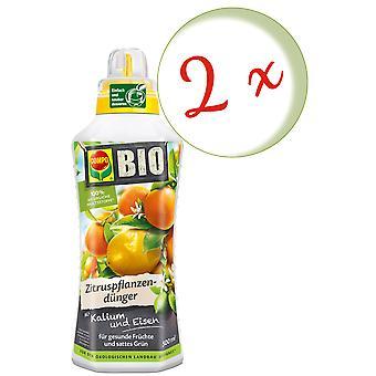 Sparset: 2 × كومبو بيو الحمضيات الأسمدة النباتية، 500 مل
