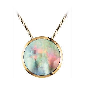 Jacques Lemans - necklace with mother-of-pearl pendant - S-C71C