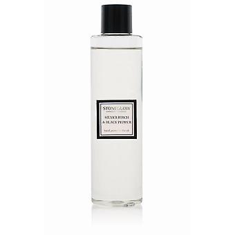 Stoneglow Modern Classics Reed Diffuser Refill Bottle 200ml Home Fragrance Silver Birch & Black Pepper