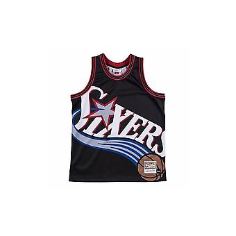 Mitchell & Ness Nba Big Face Jersey Philadelphie 76ERS MSTKBW19068P76BLCK basket-ball été hommes t-shirt