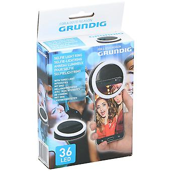 GRUNDIG Selfie TikTok Ring light voor Smartphone Mobile 36 Highlight LED-lampen