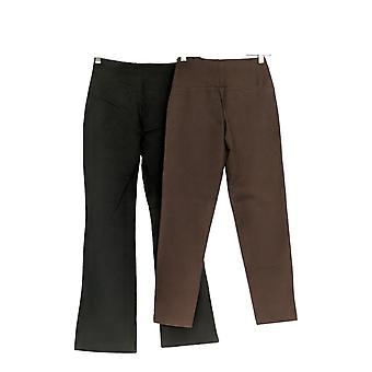 Women With Control Women's Pants (XXS) Tummy Control 2 Set Black A344734