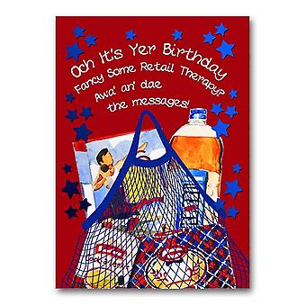 Embroidered Originals Och Its Yer Birthday Dae The Messages Card