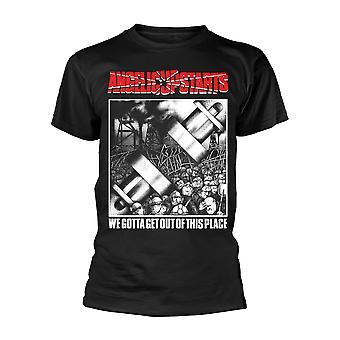 Angelic Upstarts Meidän täytyy päästä pois tästä paikasta virallinen t-paita unisex