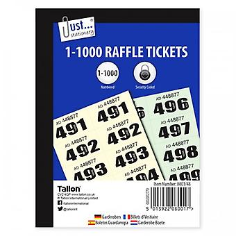 Just Stationery Cloak Room Raffle Tickets 1-1000 (Pack Of 12)