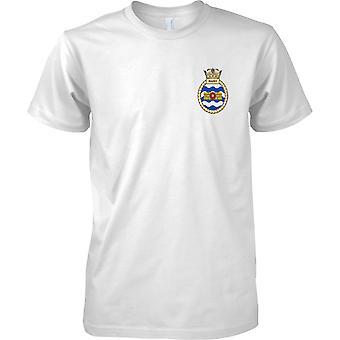 HMS Walney - avvecklade Royal Navy fartyg T-Shirt färg