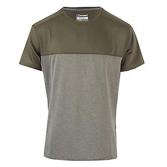 Men's Berghaus Voyager Base Crew Camiseta en verde
