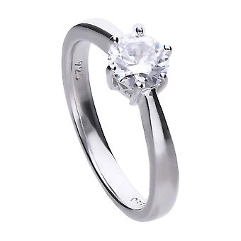 Diamonfire R3620 Claw Set 1ct Solitaire Ring Size O