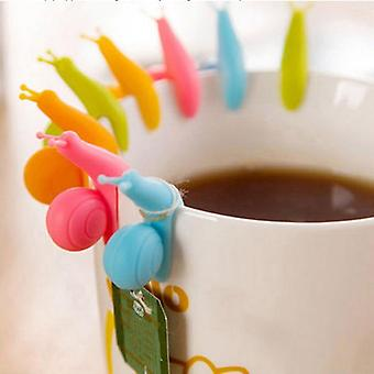 Cute Snail Shape Silicone Tea Bag Clip For Cup Mug Used During Party Decor