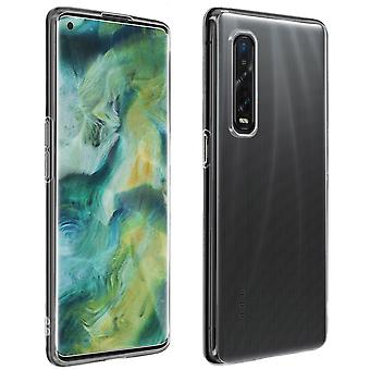 Oppo Find X2 Pro Cover Soft Silicone and 9H clear Tempered Glass Film