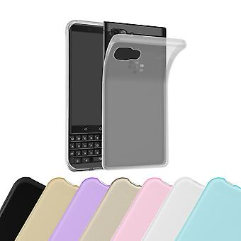 Cadorabo Case for Blackberry KEY 2 Case Cover - Mobile Phone Case made of flexible TPU silicone - Silicone Case Protective Case Ultra Slim Soft Back Cover Case Bumper