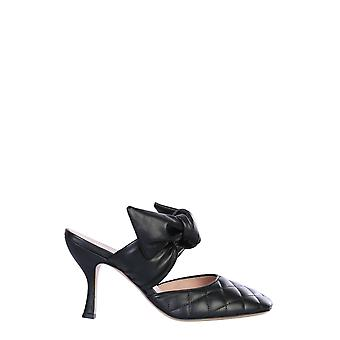 Gia Couture Kendalla614 Women's Black Leather Sandals