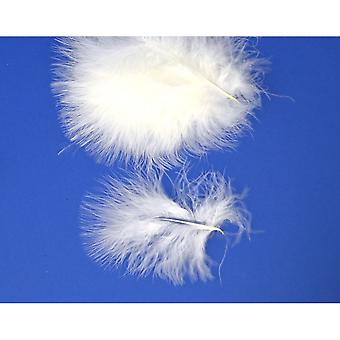 20 White Premium Marabou Feathers for Crafts