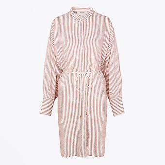 Munthe  - Striped Shirt-Dress - Pink/White
