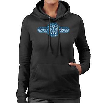 O logotipo do labirinto de cristal simboliza women's camisola encapuzada