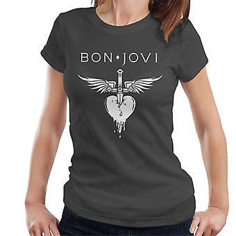 Bon Jovi Dagger Heart logo naisten T-paita