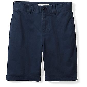Essenziali Big Boys' Flat Front Uniform Chino Short, Marina lavata,8