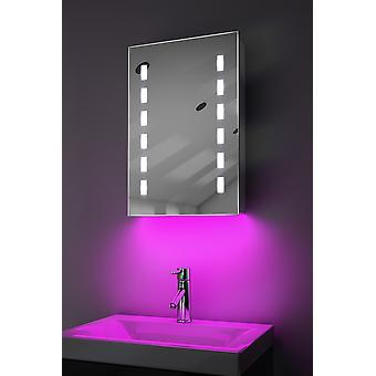 omgivelseslyd LED bad skap med sensor og barbermaskin k349aud