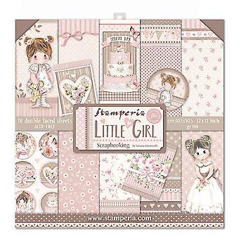 Stamperia liten flicka 12x12 tums papperspaket