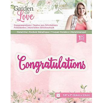 Crafter's Companion Garden of Love Congratulations Dies