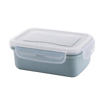 Mini PP Silikónová chladnička Skladovacia skrinka Modrá 14x9.5x5.5CM