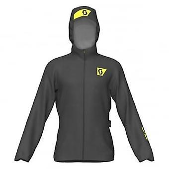 Scott rc run mens impermeable transpirable chaqueta de Running negro/amarillo