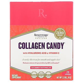 ReserveAge Nutrition, Collagen Candy, Cucumber Watermelon, 20 Stickpacks, 2.3 oz