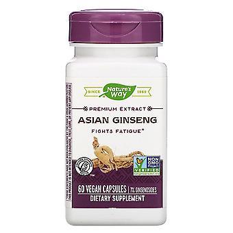 Nature-apos;s Way, Ginseng asiatique, 60 capsules végétaliennes