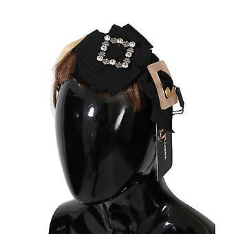 Dolce & Gabbana Clear Crystal Brown Hair Headband -- SMY1992240