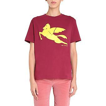 Etro 192409086300 Frauen's Burgund Baumwolle T-shirt
