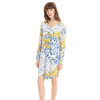 Féraud Casual Chic 3201157-16360 Women's Skyblue Print Floral Cotton Nightdress