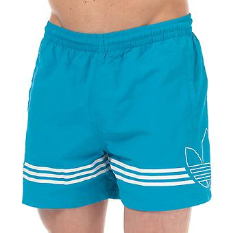 Men's adidas Originals SPRT FB Swim Shorts in Blue
