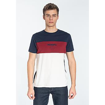 Merc CARTER, Heren's Cotton Colour Block T-Shirt