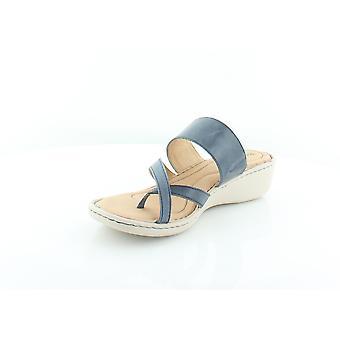 Born Womens Siene Leather Split Toe Casual Slide Sandals
