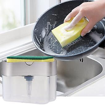 2-in-1 Schwamm Rack Dispenser Seife und Schwamm Caddy 13 Unzen (mehrfarbig)