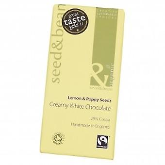 Organic Seed & Bean - White Chocolate Bar - Lemon & Poppy