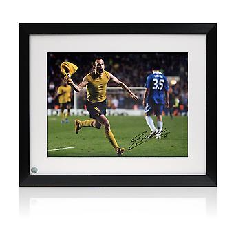 Andres Iniesta a signé Barcelone Photo: Le but de Chelsea. Encadré
