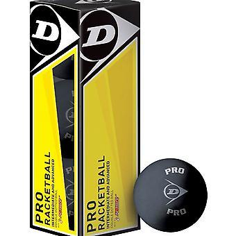 Dunlop Pro Racketball Balls (Boîte de 3)
