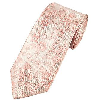 Krawatten Planet natürliche & Dusky rosa Blume gemusterte Männer's Krawatte