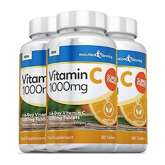Vitamine C 1000mg Tabletten, geschikt voor vegetariërs en veganisten - 180 tabletten - vitaminesupplement - Evolution Slimming