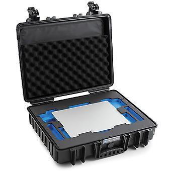 B&W Caja al aire libre Tipo 6040 para MacBook Pro de 13 y 16 pulgadas, Negro