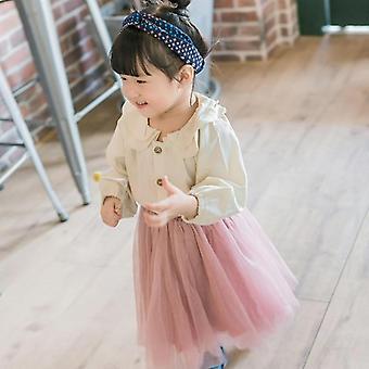 Lasten tyttöjen pusero röyhelöt, kaulus puuvilla&pellat paidat