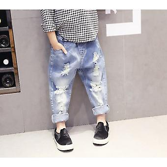 Spring Baby Girls Jeans Kids Clothes- Cotton Loose Comfortable Long Denim Pants Elasticated Waist Casual Jeans For Girls 3-7y