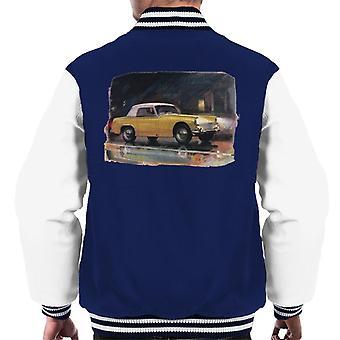 Austin Healey Yellow British Motor Heritage Men's Varsity Jacket