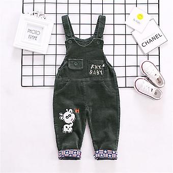 Autumn Corduroy Baby Cartoon Denim Baby Rompers-  Bib Kids Overalls Cotton Baby