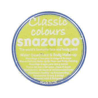 Snazaroo Halloween Fancy Dress Accessories - Classic Colours Water Based Face & Body Paint - Bright Yellow 18ml