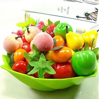 10/20/30pcs/lot Mini Simulation Foam Fruit And Vegetables Artificial Kitchen
