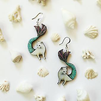 Mermaid Cat Earrings