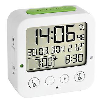 Bingo Funkwecker - Digitaalinen herätyskello radio-ohjattavalla ajalla, valkoinen