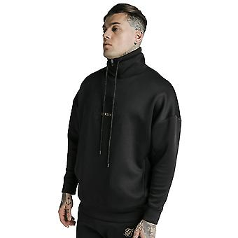 SikSilk Element Quarter Zip Hoodie - Black & Gold